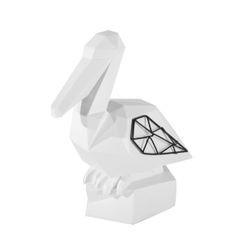 Figurka dekoracyjna pelikan biały geometryczny 21 cm - 19 X 11 X 21 - biały/czarny 1