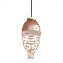 Lampa metalowa loftowa złota styl industrialny  - ∅ 20 X 21 cm - miedziany 3