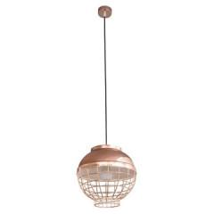 Lampa metalowa loftowa złota styl industrialny - ∅ 30 X 12 cm - miedziany 1