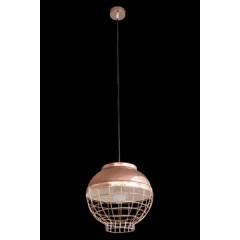 Lampa metalowa loftowa złota styl industrialny - ∅ 30 X 12 cm - miedziany 2