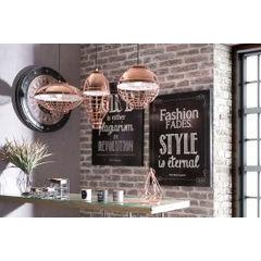 Lampa metalowa loftowa złota styl industrialny - ∅ 30 X 12 cm - miedziany 3