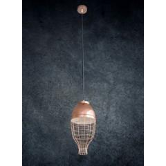 Lampa metalowa loftowa złota styl industrialny - ∅ 30 X 12 cm - miedziany 5