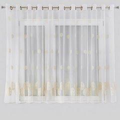 Firana haftowana beżowe ślimaczki biała przelotki 400x160cm - 400x160 - kremowy 2