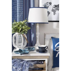 Lampa dekoracyjna ecru 55 cm - ∅ 28 X 55 cm - ecru 3