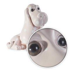Figurka różowy pies w grochy 35 cm - 35 X 25 X 35 cm - jasnoróżowy 2