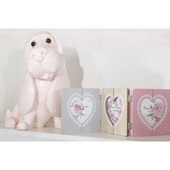 Figurka różowy pies w grochy 35 cm - 35 X 25 X 35 cm - jasnoróżowy 4