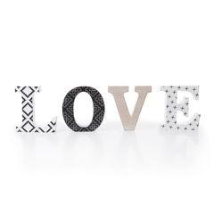 Dekoracja napis love styl młodzieżowy 12 cm - 44 X 2 X 12 - biały/czarny 1
