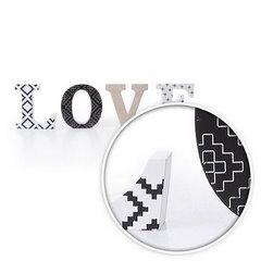 Dekoracja napis love styl młodzieżowy 12 cm - 44 X 2 X 12 - biały/czarny 5
