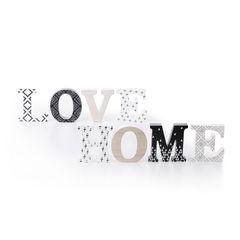 Dekoracja napis love styl młodzieżowy 12 cm - 44 X 2 X 12 - biały/czarny 2