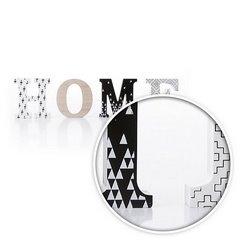 Dekoracja napis home styl młodzieżowy 12 cm - 44 X 2 X 12 - biały/czarny 6