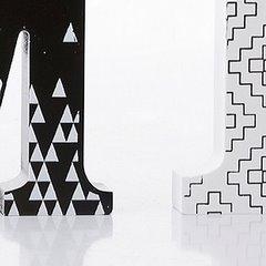 Dekoracja napis home styl młodzieżowy 12 cm - 44 X 2 X 12 - biały/czarny 7