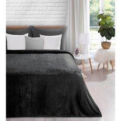 Koc miękki jednokolorowy czarny 150x200cm - 150x200 - srebrny 2
