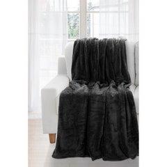 Koc miękki jednokolorowy czarny 150x200cm - 150x200 - srebrny 1