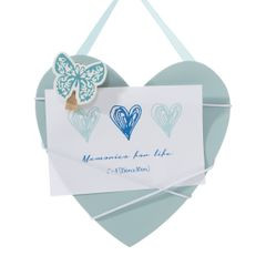 Ramka z drewna serce 19 x 1 x 18 cm - 19 X 1 X 18 cm - błękitny 1