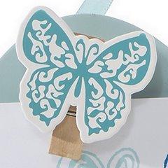 Ramka z drewna serce 19 x 1 x 18 cm - 19 X 1 X 18 cm - błękitny 7
