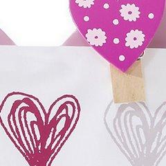 Ramka z drewna serce 19 x 1 x 18 cm - 19x1x18 - różowy 4