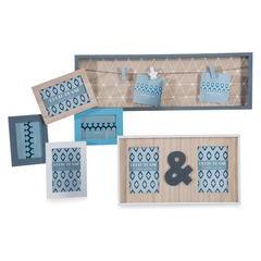 Ramka z drewna z klamerkami 60 x 19 x 3 cm - 60 X 19 X 3 cm - stalowy 2