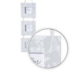 Ramka na zdjęcia z nadrukiem w motyle 15 x 1 x 53 cm - 15 X 53 X 1 cm - popielaty/biały 3
