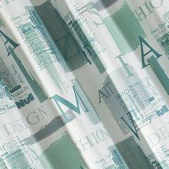 Zasłona młodzieżowa z typograficznym nadrukiem przelotki 140x250cm - 140x250 - mix kolorów 2