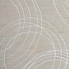 Zasłona z haftem koła oliwkowa przelotki 140x250cm - 140 X 250 cm - oliwkowy 4