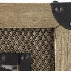 Ramka z drewna i metalu 29 x 34 x 2 cm - 29 X 34 X 2 cm - brązowy/czarny 4