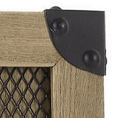 Ramka z drewna i metalu 26 x 26 x 2 cm - 26 X 26 X 2 cm - brązowy 5