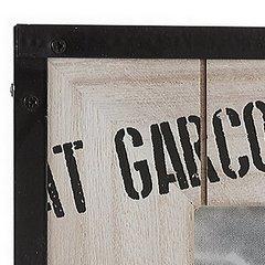 Ramka z drewna i metalu 19 x 1 x 19 cm - 19 X 1 X 19 - brązowy 5