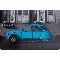 Retro car podkładka stołowa niebieska 30x43 cm - 30 X 43 cm - szary/turkusowy 1