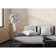 Poszewka na poduszkę love 40 x 40 cm biało szaro żółta - 40 X 40 cm - wielokolorowy 4