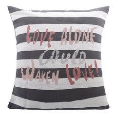 Poszewka na poduszkę love 40 x 40 cm biało szaro czerwona - 40x40 - szary / czerwony 1