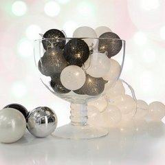 Girlanda świetlna cotton balls 385 cm 20 żarówek - 385cm/20szt. - biały/czarny 3