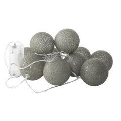Girlanda świetlna cotton balls 385 cm 20 żarówek - 385cm/20szt. - biały/czarny 2