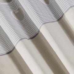 Zasłona beżowa z aplikacjami 140x250 cm przelotki - 140x250 - beżowy / szary 2