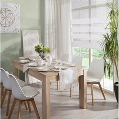 Talerz głęboki kwiatowy ornament biało-beżowy średnica 22 cm - średnica 22 cm - biały/beżowy 9