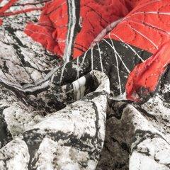 Narzuta dwustronna młodzieżowy wzór budki telefoniczne 170x210cm - 170 X 210 cm - szary/czerwony 10
