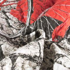 Narzuta dwustronna młodzieżowy wzór budki telefoniczne 170x210cm - 170 X 210 cm - szary/czerwony 6