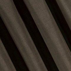 Brązowa gładka zasłona o strukturze płótna 140x270 cm przelotki - 140 X 270 cm - brązowy 1