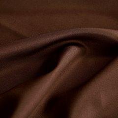 Kawowa gładka zasłona z matowej satyny 140x250 przelotki - 140x250 - kawowy 2