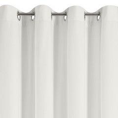 Zasłona welwetowa kremowa 140x250cm przelotki - 140 X 250 cm - kremowy 4