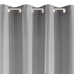 Srebrna ZASŁONA z LŚNIĄCĄ NICIĄ na przelotkach 140x250cm - 140x250 - srebrny 3
