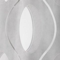 Nowoczesna zasłona z organtyny srebrny wzór na tasmie 140x270 cm - 140 X 270 cm - biały/srebrny 2