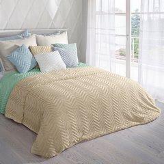 Poszewka na poduszkę 40 x 40 cm beżowa zygzag  - 40x40 - beżowy 2