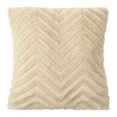 Poszewka na poduszkę 40 x 40 cm beżowa zygzag  - 40x40 - beżowy 1