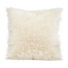 Poszewka na poduszkę miękkie futerko 45 x 45 cm kremowy  - 45x45 - kremowy 1