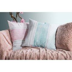Poszewka dekoracyjna na poduszkę 45 x 45 kolor popielaty/biały - 45 X 45 cm - popielaty/biały 7