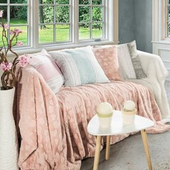 Poszewka dekoracyjna na poduszkę 45 x 45 kolor popielaty/biały - 45 X 45 cm - popielaty/biały 8