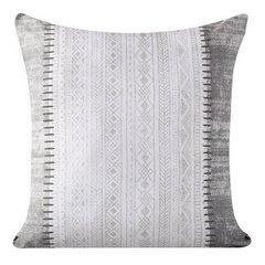 Poszewka dekoracyjna na poduszkę 45 x 45 kolor popielaty/biały - 45 X 45 cm - popielaty/biały 4