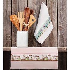 Ręczniki kichenne ariana biały=różowy komplet 2szt - 40 X 60 cm - biały/różowy 5