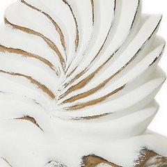 Figurka ceramiczna ślimak 21 x 14 x 12 cm shabby chic - 21 X 14 X 12 cm - biały 4