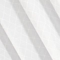 Żakardowa ZASŁONA w KRATĘ biała 135x250 cm na przelotkach - 135X250 - biały 2